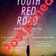YOUTH RED ROAD POSTPONED